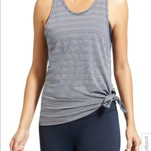 ATHLETA Max Out Chi 2-in-1 Tank Top Striped Medium